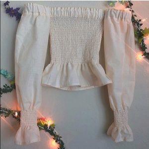 Cotton Off-the-Shoulder Blouse